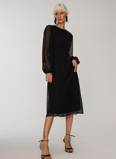 People By Fabrika Nopeli Elbise Siyah